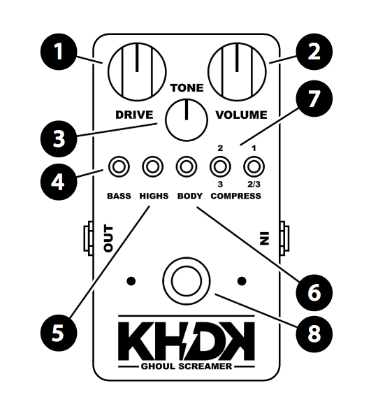 Khdk Ghoul Screamer Pedal Tone Bakery Creme Fraiche Bundle
